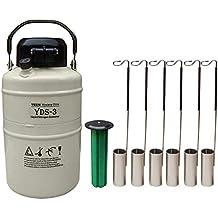 Hfs (TM) 3 L criogénicas contenedor tanque de nitrógeno líquido ln2 con correas y