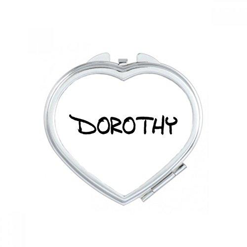DIYthinker Spezielle Handschrift Englischer Name Dorothy Herz Compact Make-up Taschenspiegel Tragbare Nette kleine Hand Spiegel Geschenk
