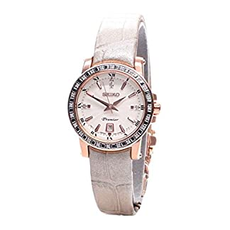 Seiko–Reloj de pulsera analógico para mujer cuarzo piel sxdg60p1