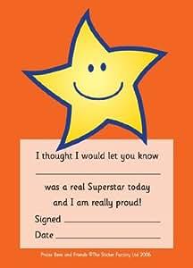 A6 Praise pad: star: 50 Superstar reward notes