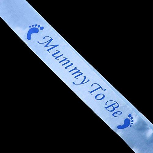 Bodhi2000® – Satin-Schärpe für Babyparty, Party-Dekoration, blau, Mummy To Be