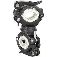 WINOMO Anti-Rutsch Vielseitige Universal 360 Grad Fahrrad Radfahren Lenkerhalterung LED Taschenlampe Clip Clamp Fahrrad Sattelstütze Und Pole Torch Halterung Halter Grip (Schwarz und Gelb)