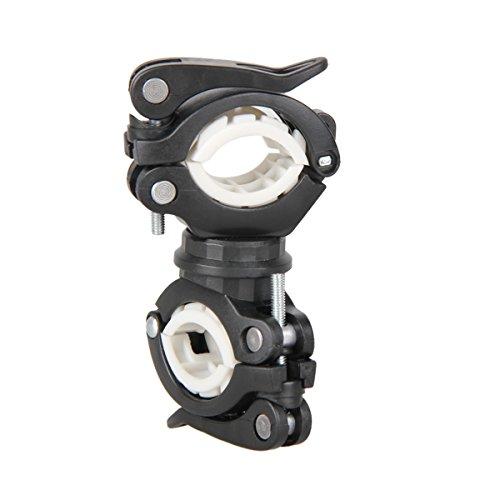 WINOMO Anti-Rutsch Vielseitige Universal 360 Grad Fahrrad Radfahren Lenkerhalterung LED Taschenlampe Clip Clamp Fahrrad Sattelstütze Und Pole Torch Halterung Halter Grip (Schwarz und Gelb) -