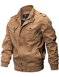 Jacket Veste Manteaux et Blousons Homme M-6XL,Covermason Homme Printemps  Automne Militaire Veste 2e030d3b9db