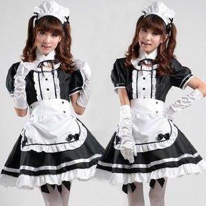 Moe Moe! H?bsche Maid Cafe klassischen Gothic Halloween-Kost?m Gr??e XL (Halloween Kostüm Moe)