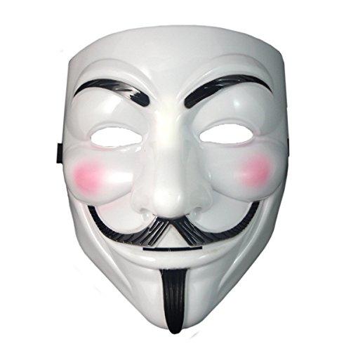 VintageⅢ V wie Vendetta Guy Fawkes Gesichtsmaske Anonym Maske Fancy Halloween, Karneval Cosplay, Kostümparty Maske
