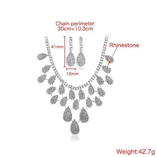 ALUCE Rhinestone Schmuck Pullover Kette Damen Modeschmuck Jewelry Wunderbares Geschenk Für Ihre Weiblichen Freunde,Silver