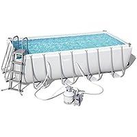 Bestway Power Steel Rectangular Pool Set  Stahlrahmenpool-Set mit Sandfilteranlage und Zubehör