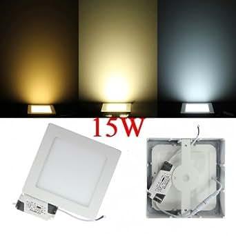 Hohe Qualität 15W LED Panel Quadrat Deckenleuchte Licht Lampe Wechselstrom 85-265V - White