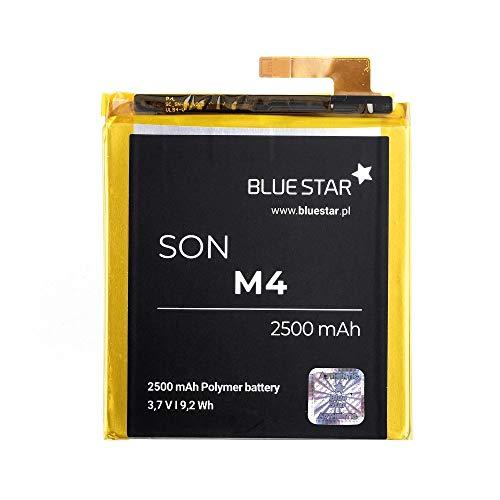 Blue Star - Premium Batterie de Lito-ION avec 2500 mAh Charge Rapide 2.0 Compatible avec Sony Xperia M4 Aqua