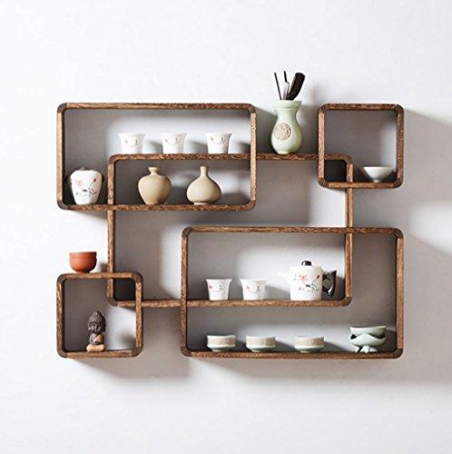 Mensole a parete Scaffalature in legno massello / Scaffale a parete ...