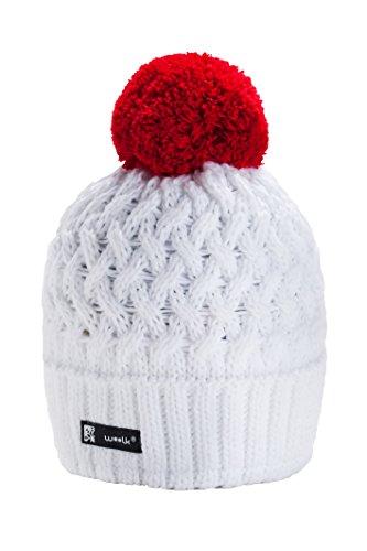 Wurm Winter Cookies Style Beanie Mütze mit Ponpon Damen Herren HAT HATS SKI Snowboard (Robin White) MFAZ Morefaz Ltd