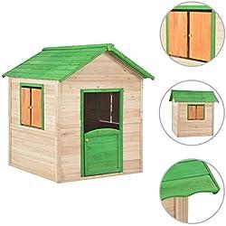 Tidyard Maison de Jeu | Maison de Jardin Enfant | Cabane de Jardin pour Enfants Bois Vert