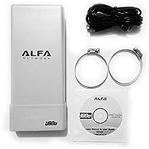 Alfa Network UBDO-N8 - Adaptador WiFi USB 802.11b / g / n, largo alcance, radio, tipo N conector de antena externa, cable de 8 m