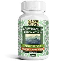 Oladole Natural Ashwagandha Root Extract 120 Capsules