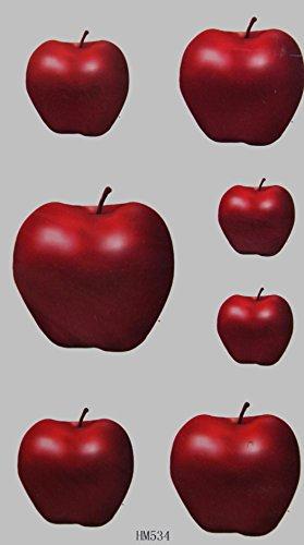 GRASHINE toxiques pomme rouge stckers de tatouage temporaire étanche et non
