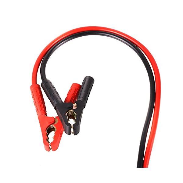 MVPOWER Cables de Arranque 6M 1500A 30mm² para 12V y 24V Incluye Guantes y Bolsa de Almacenamiento – CE para Automóviles, Campistas, Camiones, Motocicletas y Baterías de Emergencia (6M 1500A)