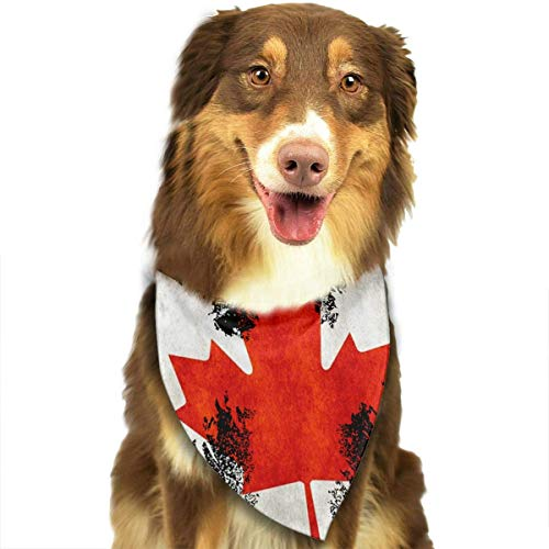 Collars Canadian Eagle Pets Triangle Neckerchief Puppy Bibs Scarfs Cats Scarfs Towel ()