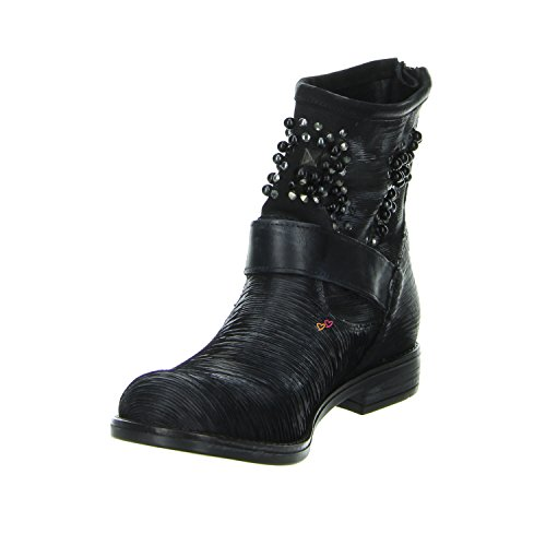 Biondini BERLINO VINTAGE Boots schwarz Leder Schwarz