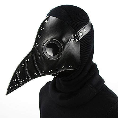 Youth Union Schnabelmaske Pest-Maske Doktor Cosplay, Halloween Maske, Retro Felsen Party Masken Steampunk Halloween Kostüm Dekoration für Erwachsene Halloween Party (Stil 2)