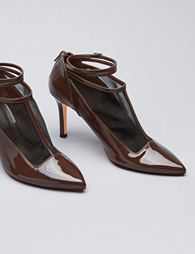 FIND Scarpe con Cinturino alla Caviglia Donna Marrone (Brown)