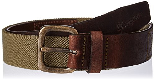 Wrangler Herren Canvas Stretch Safari Gürtel Braun (Brown)