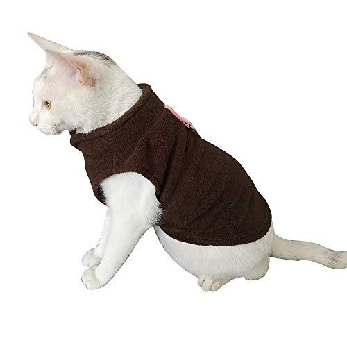 Xbeast Warme Jacke für Hunde und Katzen, Fleece, mit Schnalle, für Kaltes Wetter