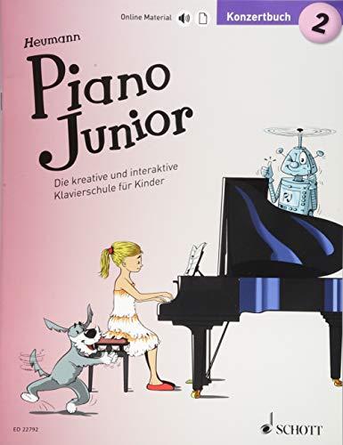 Piano Junior: Konzertbuch 2: Die kreative und interaktive Klavierschule für Kinder. Band 2. Klavier. (Piano Junior - deutsche Ausgabe)
