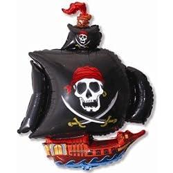 Gran globo con diseño de barco pirata.