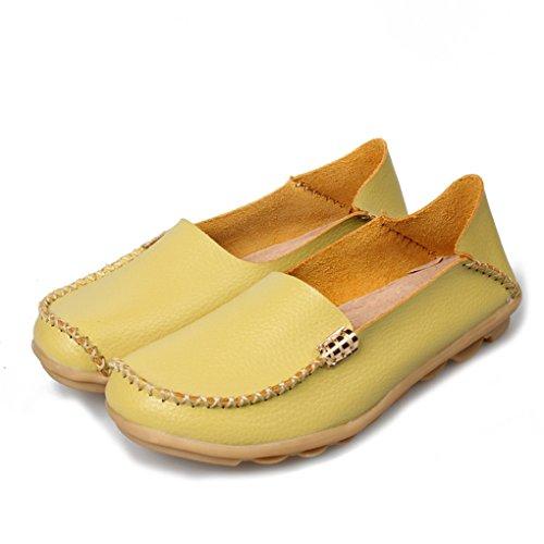 YY-Rui Mocassins décontractés pour femmes Chaussures dété Vert