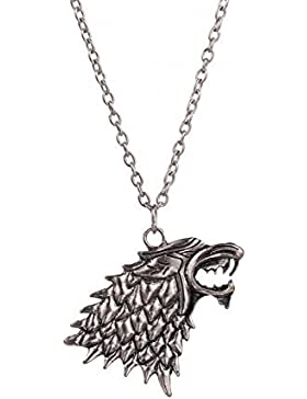 Halskette Direwolf des Hauses Stark - Game Of Thrones - Throne Of Swords - Jon Snow High Quality