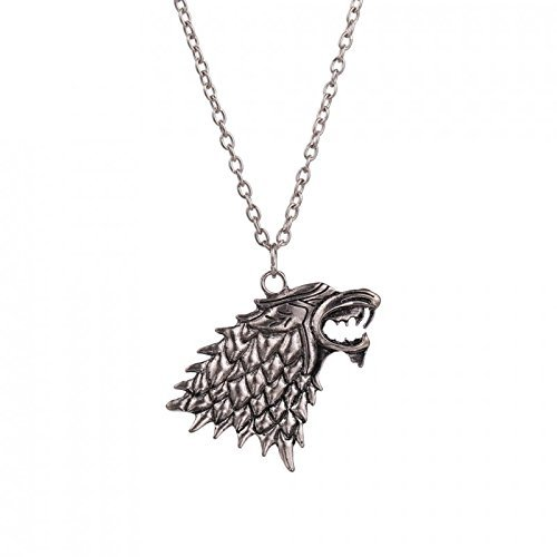 Collar de MetaLupo Stark Game of Thrones Juego de Tronos - modelo Jon Snow