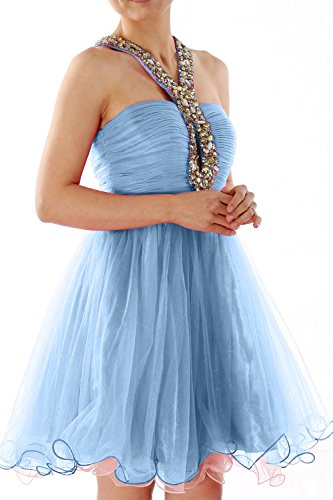 MACloth - Robe - Boule - Sans Manche - Femme Bleu - Bleu ciel