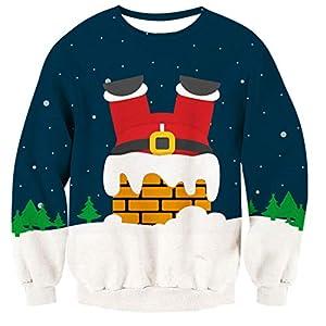 TUONROAD Christmas Sweatshirt Unisex Ugly