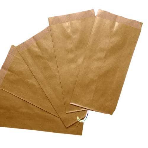 30 pezzi Sacchetti carta Dorati, confettata, 8x15 centimetri, bustine carta, sacchetti carta confetti, confettata, sacchettini kraft oro