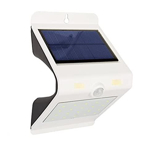 Hommii LT23 Solar Lights 24 LED IP65 Waterproof Outdoor Light, Light + Infrared Body Sensor for Patio Deck Yard Garden Porch Aisle Driveway (Weiß)