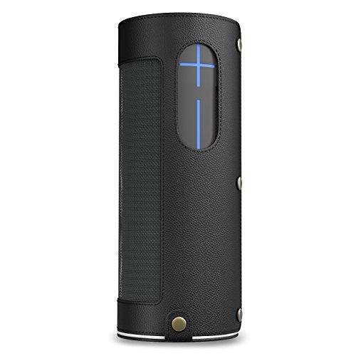 MoKo UE MEGABOOM Funda - Portátil Inalámbrica de Altavoz / Wireless Bluetooth Speaker Carrying Cover Case Protective Bag Sleeve Holding Strap & Carabiner, Negro