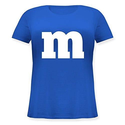 (Karneval & Fasching - Gruppen-Kostüm m Aufdruck - S (44) - Blau - JHK601 - Lockeres Damen-Shirt in großen Größen mit Rundhalsausschnitt)