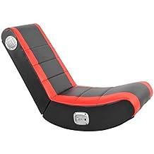 X-Rocker Flash Rocker Gaming Chair, 84 x 42.5 x 70 cm, Black/ Red