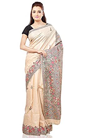 Jharcraft Tussar Munga Hand-Painted Madhubani Saree