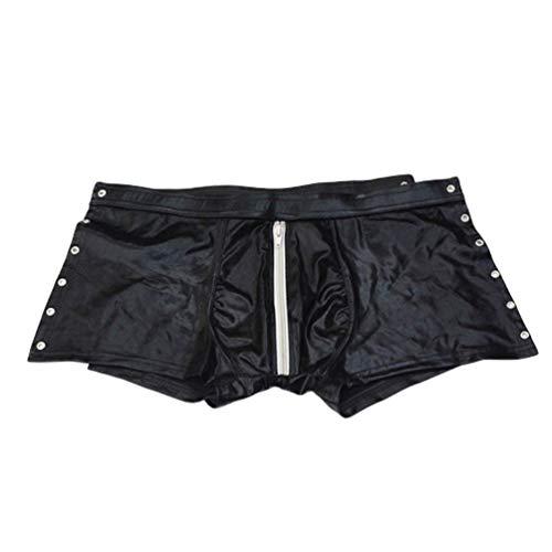 Healifty Calzoncillos Boxer de Cuero para Hombre Pantalones Ajustados Bikini bañador Pantalones Cortos...