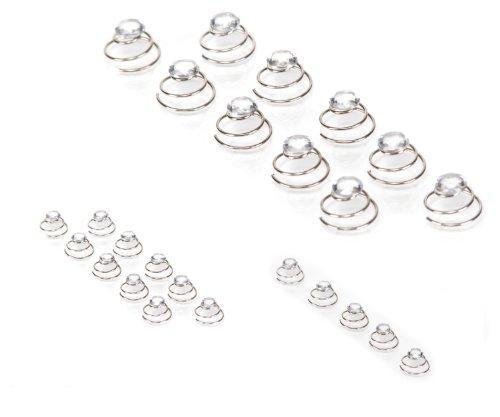 10 Épingles en spirale ornée de strass - bijoux de mariée strass - SHF Clair