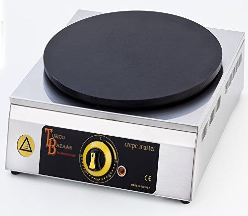 turcobazaar Single 40 cm 16 commercial Double Pancake Maker Luxury gaz Crepe Pan Griddle Machine Machine Non-Stick crêpes maker