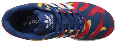 adidas Zx Flux, Baskets Basses Femme Bleu (Dark Marine/White/White)