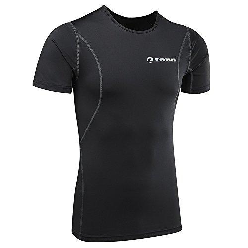 tenn-outdoors-short-de-compression-a-manches-courtes-pour-couche-de-base-xl-noir