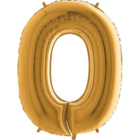 on Zahl 0 (Gold) - XXL Riesenzahl 100cm Ballon - Helium Luftballons für Geburtstag, Partydeko, Hochzeit (Zahl 0, Silber) (Gold Helium-ballons)