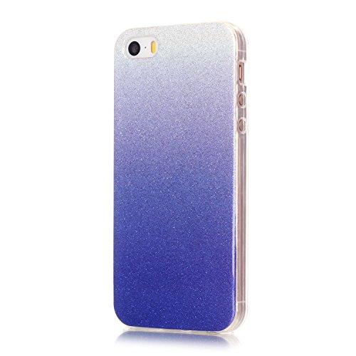 TPU Coque pour iPhone SE / 5S / 5 Souple Etui Gel Léger Ultra Slim Flexible Luxe Ultra Mince Slim Flexible Souple TPU Silicone Case Cover, Coloré Shiny Skin Coque Cristal pour Apple iPhone 5 / 5s / SE 3