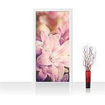 Türtapete Türposter Türfolie Orchidee Blumenranke Natur Pflanzen Abstrakt no 201