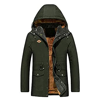 MAYOGO Winter Jacket Herren 2018 Herbst Winter Lang Plus