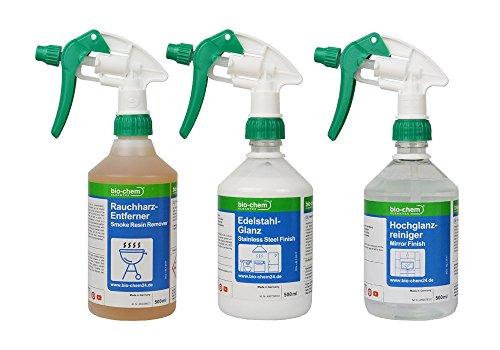 Bio-Chem 3er-Grill & Backofen Reinigungs- und Pflege-Set für Smoker, Öfen, Schaschlikgrill (Ofen-reiniger Natürliche)